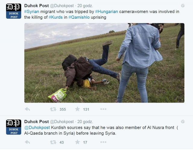 Le «réfugié» syrien rendu célèbre par le croche-pied d'une journaliste hongroise serait un combattant du Front Al-Nosra (Al-Qaïda)