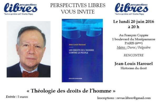 Conférence de Jean-Louis Harouel