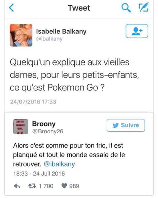 Pokemon Go expliqué à Isabelle Balkany