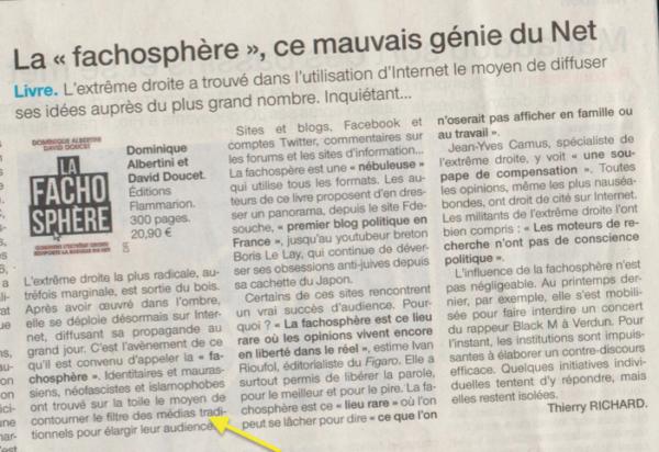 "Quand ""Ouest France"" avoue filtrer l'information"