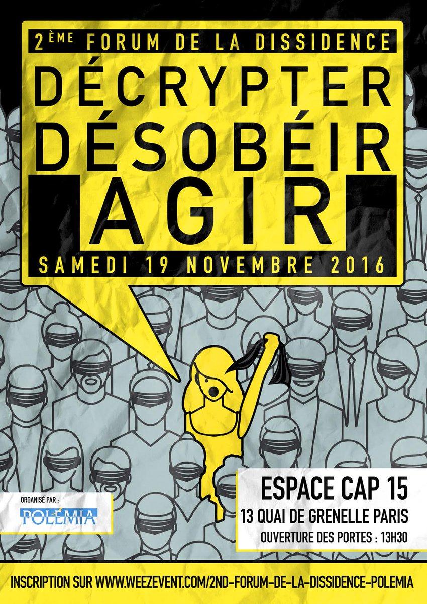 Ne ratez pas le 2e forum de la dissidence organisé par la Fondation Polémia