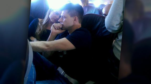 Ryszard Petru et Joanna Schmidt dans l avion