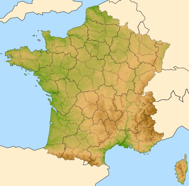 La carte de France des radicalisations