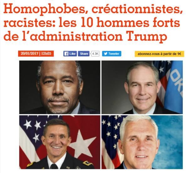 """Trump Team : """"Les Inrocks"""" font dans leur froc"""