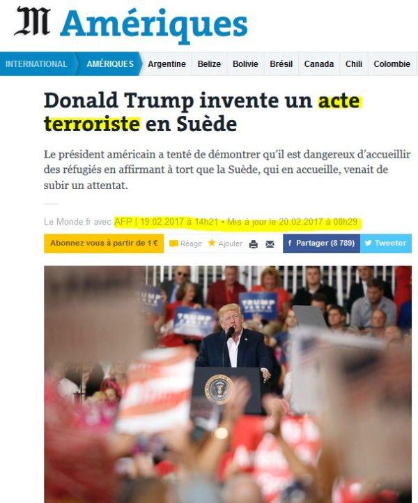 Alerte Decodex (!) : Le Monde publie (à nouveau) une fausse nouvelle