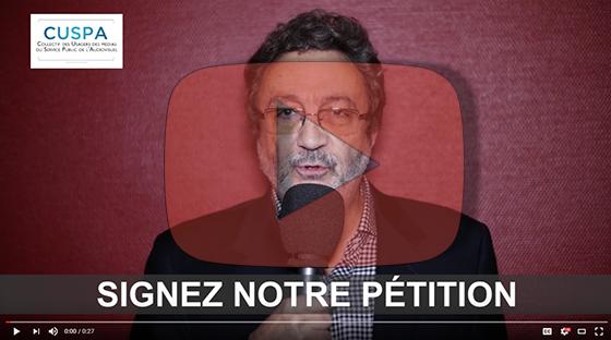Appel de Claude Chollet à signer la pétition du Collectif des usagers du service public de l'audiovisuel