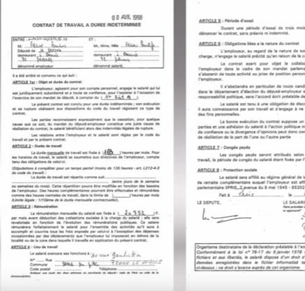 Pénélope Fillon : le contrat de travail embarrassant