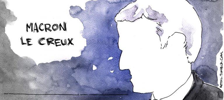 Macron, candidat à la gomme !