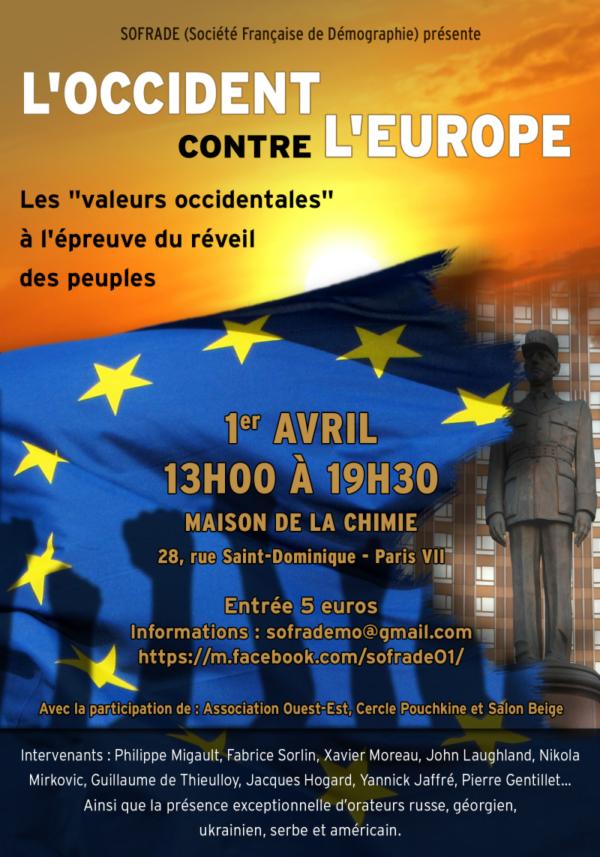 """Colloque """"L'Occident contre l'Europe"""" : inscrivez-vous !"""