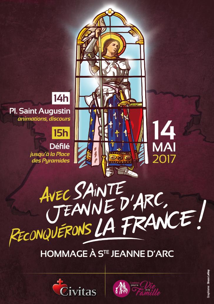 Avec Sainte-Jeanne d'Arc, reconquérons la France !