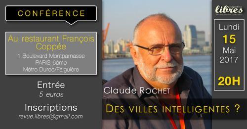 """Vidéo de la conférence de Claude Rochet : """"Des villes intelligentes ?"""""""