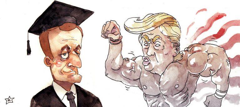Trump, celui qui parle pour son pays. Macron, celui qui parle pour les autres. (I)
