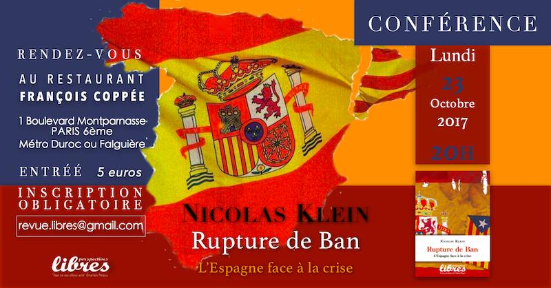 """Vidéo de la conférence de Nicolas Klein : """"l'Espagne en crise"""""""