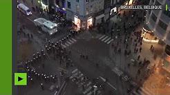 Bruxelles : débordements près de la place de la Monnaie