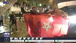 Scènes de liesse et heurts avec la police sur les Champs-Élysées après la qualification du Maroc