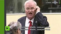 Ratko Mladic se lève de son siège et invective les juges en les traitant de menteurs