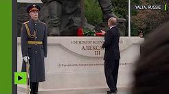Vladimir Poutine inaugure le monument dédié au tsar Alexandre III en Crimée