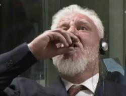 Suicide en direct d'un ex-général croate au TPI