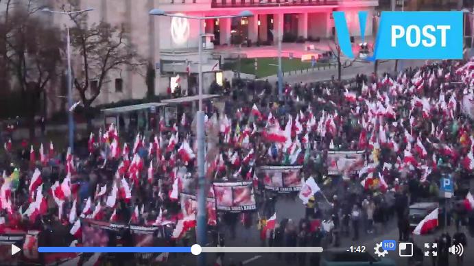 La vidéo du défilé complet de la marche de l'indépendance 2017 à Varsovie