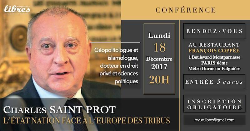 """Conférence de Charles Saint-Prot : """"L'Etat-Nation face à l'Europe des tribus"""""""