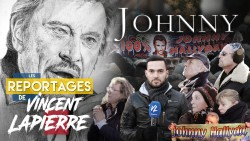 Vincent Lapierre à l'hommage national à Johnny