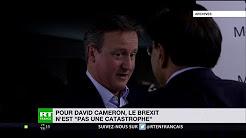 David Cameron reconnaît que le Brexit n'est pas une catastrophe