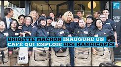 Journée mondiale de la trisomie 21 : Brigitte Macron inaugure un café qui emploie des handicapés