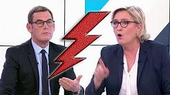 Tweets de Daesh : Marine Le Pen défonce Francis Letellier (Soir 3)