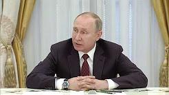 Vladimir Poutine rencontre les autres candidats à la présidentielle