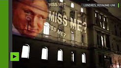 « Je vois ai manqué ? » : le portrait de Poutine projeté sur l'immeuble du Foreign Office à Londres