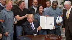 Trump signe le décret taxant l'importation d'acier et d'aluminium