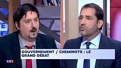 Réforme de la SNCF : débat tendu entre Laurent Brun (CGT Cheminot) et Christophe Castaner (LREM)