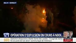 L'expulsion de la ZAD de Notre-Dame-des-Landes a commencé, déjà un gendarme blessé
