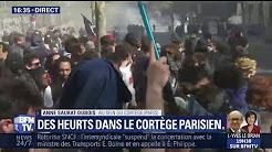 Extrême gauche : des heurts dans le cortège parisien