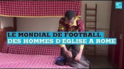 Le mondial de football des hommes d'église à Rome