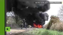 Barricades en flammes : les heurts entre zadistes et gendarmes à Notre-Dame-des-Landes se poursuivent