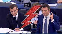 Parlement européen : Florian Philippot remet en place Emmanuel Macron