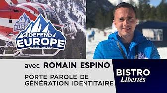 Bistro Libertés avec Romain Espino de Génération Identitaire