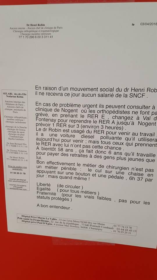 Le médecin qui refusait de prendre en consultation les feignasses de la SNCF