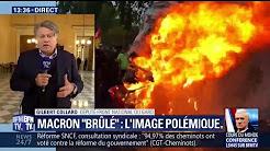 """Effigie de Macron brûlée : """"C'est particulièrement grave"""" estime Gilbert Collard"""