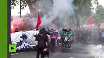 Nantes : l'ultragauche manifeste contre Macron et les réformes