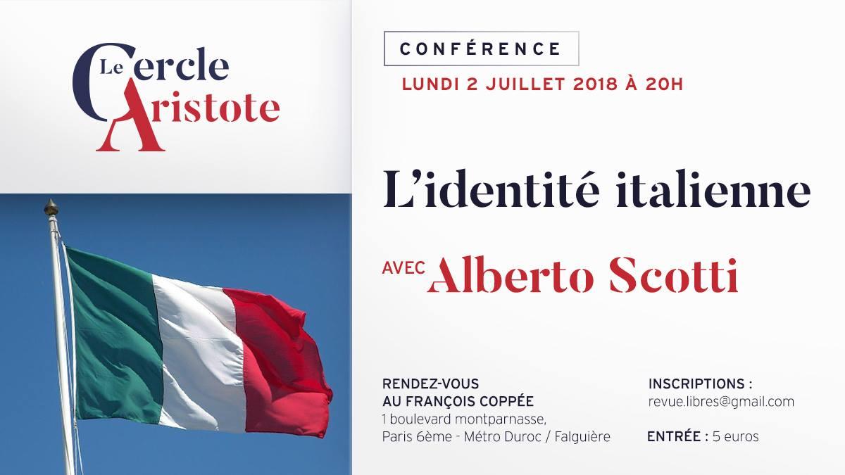 "Conférence d'Alberto Scotti : ""L'identité italienne"""