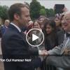 """Un vétéran de 95 ans à Macron : """"On est venu en voiture parce que vous n"""