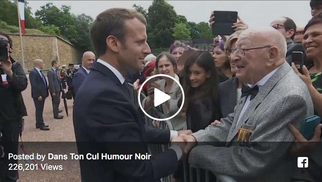"""Un vétéran de 95 ans à Macron : """"On est venu en voiture parce que vous n'avez pas encore réussi avec la SNCF !"""""""