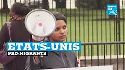 États-Unis : quelques dizaines d'immigrationnistes manifestent devant la Maison Blanche