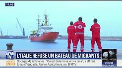 L'Italie et Malte refusent de recevoir un navire avec plus de 600 clandestins