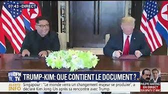 """Rencontre Kim/Trump : """"Nous voulons avoir des relations très spéciales"""" annonce Donald Trump"""
