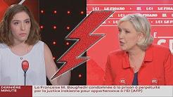 Marine Le Pen clashe une journaliste qui cite l'islamiste Romain Caillet
