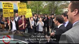 Quand Emmanuel Macron défend sa politique étrangère devant des étudiants américains