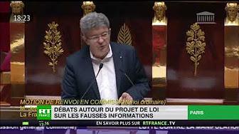 Jean-Luc Mélenchon à propos du projet de loi sur les fake news : « Allons nous interdire, et quand, Russia Today et Sputnik ? »